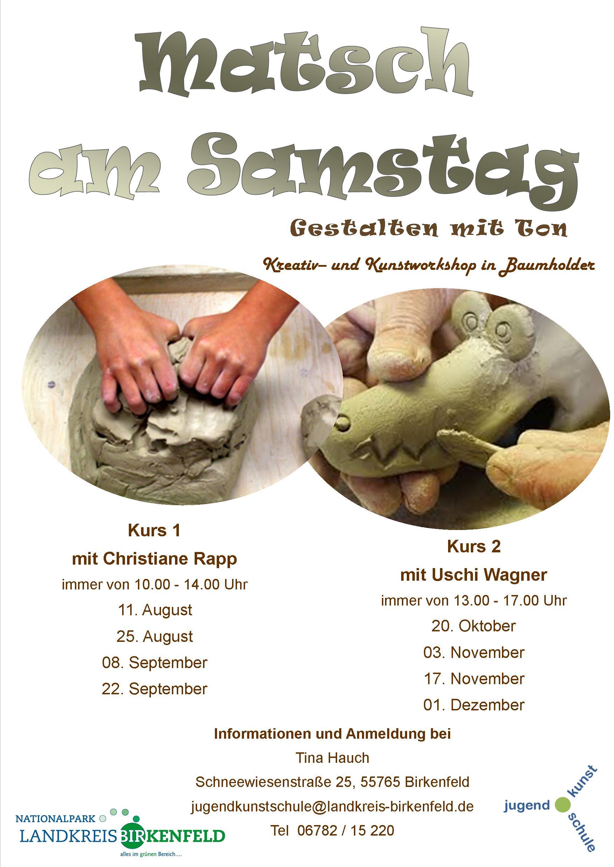 Plakat Matsch am Samstag - A3