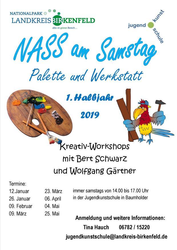 NASS am Samstag 1. Halbjahr 2019 - Plakat A3