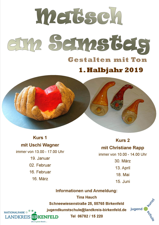 Plakat Matsch am Samstag 1. Hj 2019 - A3